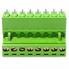 8-Pin Curved Screw Terminal Block Connectors - Green (10-Piece Pack)