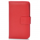 TS-CASE PU Leather + Plastic Flip-Open Case for Samsung Galaxy S3 i9300 - Red
