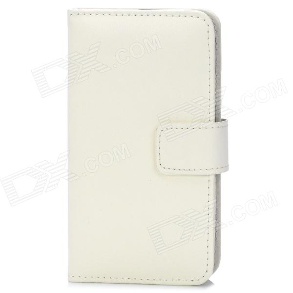 TS-CASE Protective PU Leather + Plastic Flip-Open Case for Samsung Galaxy S3 i9300 - White