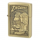 Indiana Hunting Dog / Man Pattern Metal Oil Lighter - Golden