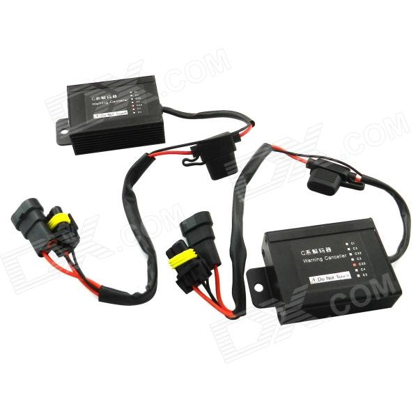 C3.5 CAN Bus HID Warning Canceller Capacitor Decoder - Black (2-Piece)