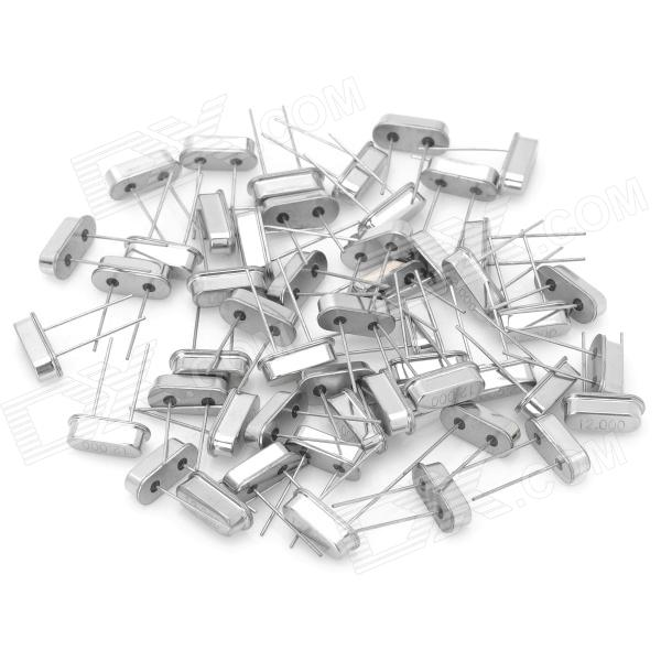 6166 6170 Electronic DIY 12MHz Crystal Oscillator - Silver (50-Piece Pack) 6166 6170 electronic diy 12mhz crystal oscillator silver 50 piece pack