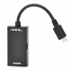 Micro USB MHL Male to HDMI Female Adapter Cable for Samsung i9100 / HTC G14 / Flyer / EVO 3D - Black