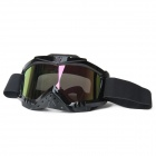 F3C Outdoor Sports Protection Video Skiing Goggles Glasses w/ Elastic Strap - Black