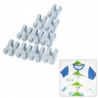 Mini S Style Clothes Hanger Hooks - Grey (10-Piece Pack)