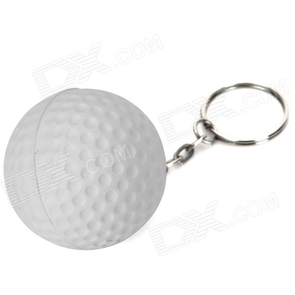Creative Golf Ball Style Keychain - White