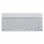 84-Key Chargeable Bluetooth V2.0 Ultra-Slim Wireless Keyboard - White