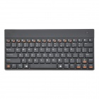 84-Key Chargeable Bluetooth V2.0 Ultra-Slim Wireless Keyboard - Black
