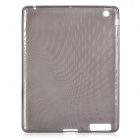 Protective TPU Back Case with Rain Pattern for The New Ipad - Transparent Black