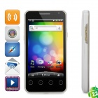 "CB-P300 Android 2.3 WCDMA Bar Phone w/ 4.0"" Capacitive Screen, GPS, Wi-Fi and Dual-SIM - Black"