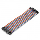 Male to Female DuPont Breadboard Jumper Wires for Arduino (40-Piece Pack / 20cm-Length)