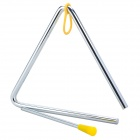 Musical Instrument Rhythm Percussion Metal Rod / Triangle Frame - Silver