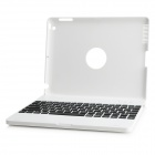 Wireless Bluetooth V3.0 82-Key Keyboard w/ Protective Plastic Case for The New Ipad / Ipad 4 - White