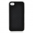 Creative Sole Style Protective Silicone Back Case for iPhone 4 / 4S - Black + White