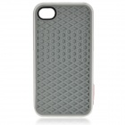 Flat Sole Style Protective Silicone Back Case for iPhone 4 / 4S - Grey + White