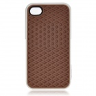 Creative Sole Style Protective Silicone Back Case for iPhone 4 / 4S - Brown + White