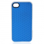 Creative Sole Style Protective Silicone Back Case for iPhone 4 / 4S - Blue + White