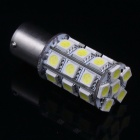 C11004W Decorative 1156 4.2W 350lm 6500K 27-LED White Light Car Lamp - White