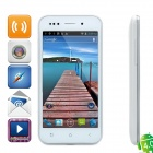 "H8000 Android 4.0 WCDMA Bar Phone w/ 4.0"" Capacitive Screen, GPS, Wi-Fi and Dual-SIM - White"