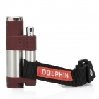 Outdoor Zinc Alloy Wind Resistant Butane Jet Lighter - Brown