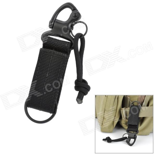 Super Backpack Hanging Hook w / Nylon Band + Metal Button - Preto