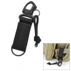 Super Backpack Hanging Hook w/ Nylon Band + Metal Button - Black