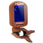 "1.2"" LCD Display Clip-on Tuner for Guitar/Violin - Coffee (1 x CR2032)"
