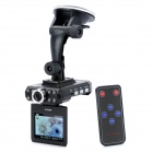 "CARCAM M3000 2.5"" TFT 1.3MP Wide Angle Car DVR Camcorder w/ SD / HDMI / TV - Black"