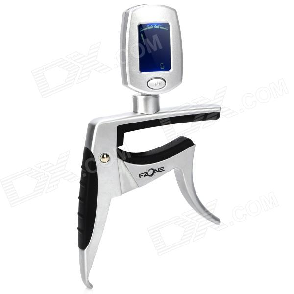 FCT-80 Multi-fuction 1.0'' LCD Tuner / Capo for Classic Guitar - Silver alloy classical guitar capo black silver