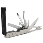 8-in-1 Stainless Steel Spanner Computer Repair Toolkit - Silver + Black