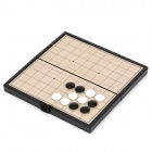SC3677 Portable I-Go Game w/ Magnetic / Folding Board - White + Black