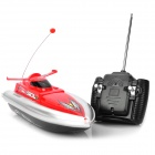 Mini Radio Control 3-CH R/C Surfing Speed Boat - Red + Black (4 x AA/2 x AA)