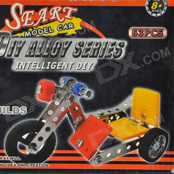 Intellectual Development Self-Assembly Stainless Alloy Three-Wheeled Car Kit