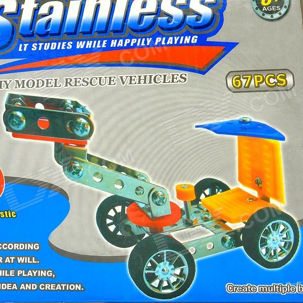 Intellectual Development Self-Assembly Stainless Alloy Four-Wheeled Car Kit