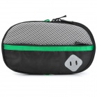 Portable Padded Fabric Carrying Bag for Sony PSP Series / PS Vita - Black + Grey