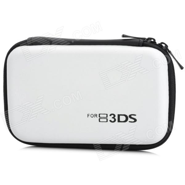 Protective Hard Artificial Leather Carrying Pouch for Nintendo 3DS - White project design protective hard carrying pouch for wii remote controller silver