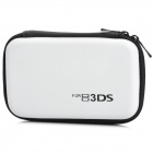 Protective Hard Artificial Leather Carrying Pouch for Nintendo 3DS - White