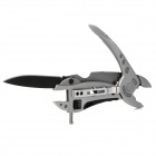 Stainless Multi-tool Pliers + Wrench + Screw Drivers Set - Silver