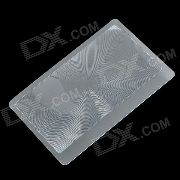 MMP-1 Ultra-Slim PVC 5X Business Card Magnifier - Transparent