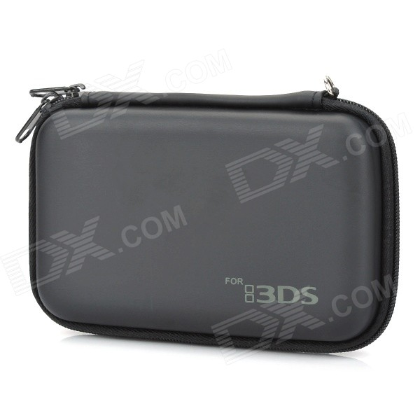 Protective Hard Artificial Leather Carrying Pouch for Nintendo 3DS - Black