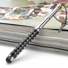 Retractable universal Stylus Pen w / anti-polvo enchufe para iPhone / iPad / Celulares - Negro