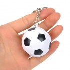 Stylish Football Shaped Plastic Keychain - White + Black