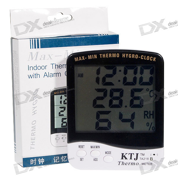Digital LCD Humidity/Hygrometer and Thermometer (1 x AAA) wireless 3 7 lcd digital thermometer humidity meter with remote sensor 3 x aaa 2 x aaa