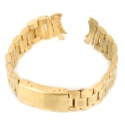 QG-20 Curve End Solid Steel Wristwatch Strap Watchband - Golden