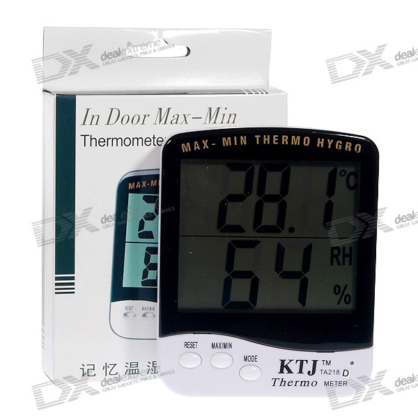 "Digital 1.2"" LCD Humidity/Hygrometer and Thermometer"