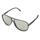 Stylish Circularly 3D Passive Polarized Glasses for Male  - Black