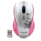 R-horse RH5299 2000dpi 2.4GHz Wireless Optical Mouse - Pink + White (1 x AAA)