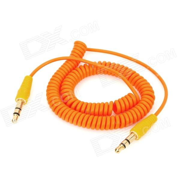 Flexible 3,5 mm Klinke auf 3,5 mm Klinke Audio-Kabel - Orange