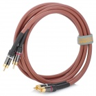 FUJICABLES 2-RCA Male to Male Connection Audio Cable - Brown (150cm)