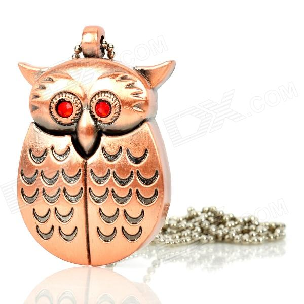 Owl Stil Eisen USB 2.0 Flash Drive - Kupfer (32GB)
